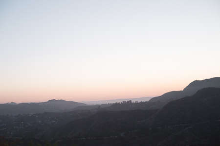 Sunset over the hills around Los Angeles 写真素材