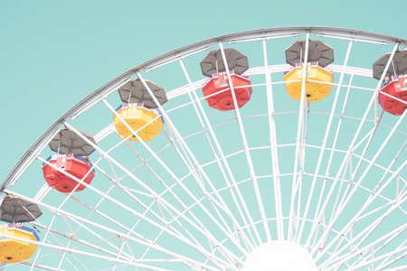 Vintage Ferris Wheel in California Banco de Imagens