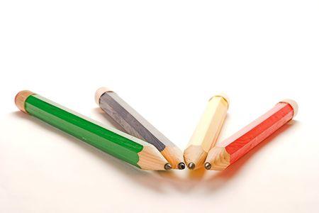 chose: chose a with big pencil to write with