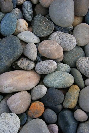 river bed: Rocks and pebbles in a river bed
