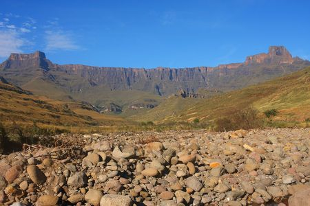Mont Aux Source amphitheater Drakenberg Mountains in South Africa photo