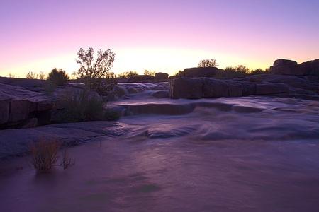 serene landscape: Augrabies waterfall in flood