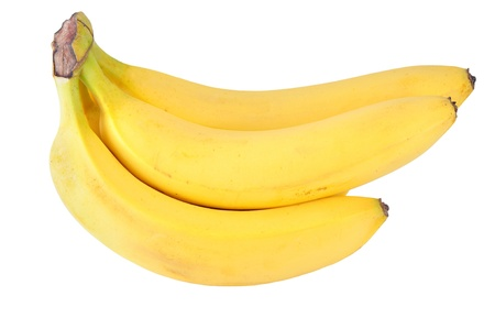 cut up banane on pure white background  Stock Photo
