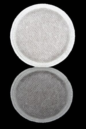 coffee  pods on  black  background