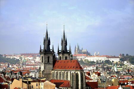 aerial views: The entrance of Prague s castle Prague Czech republic