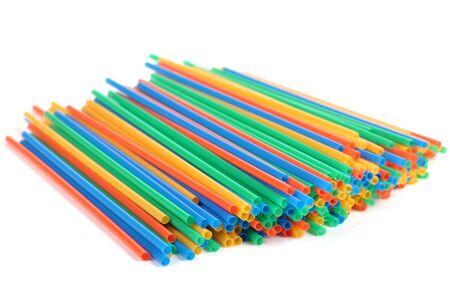 Multi-coloured tubules isolated on a white background. Stock Photo