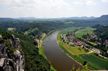 bazalt: Saxon Switzerland in Germany, in a sunny day  Stock Photo