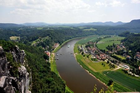 bazalt: Saxon Switzerland in Germany, in a sunny day  Stock Photo