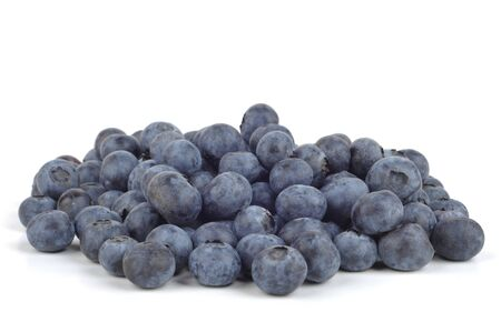 Fresh Bilberries isolated on a white backgrounds