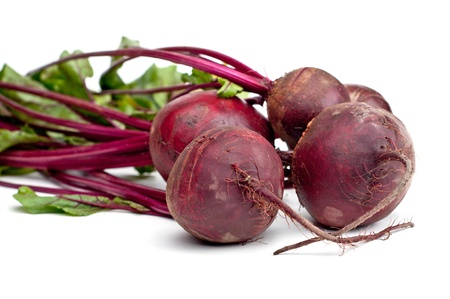 Fresh red Beet on a white background