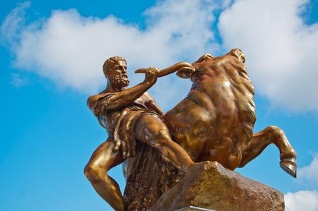 statue near the castle in Schwerin, Germany