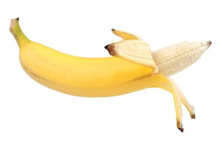 Reife Banane isoliert auf weißem Hintergrund