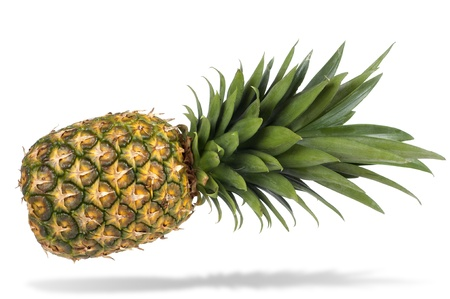 single object: ripe pineapple isolated on white background