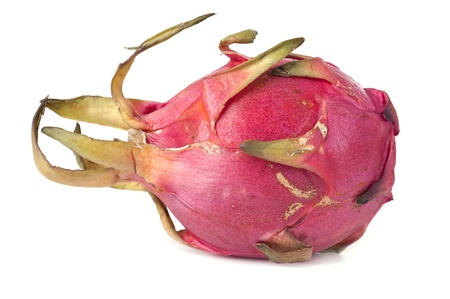 Fresh pink pitahaya on a white background  photo