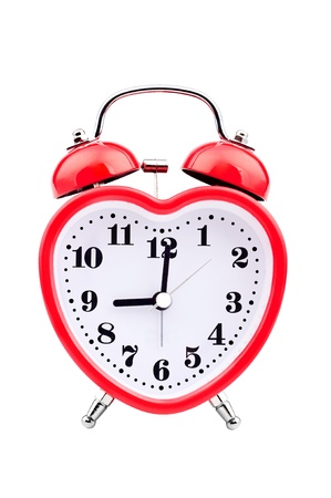 Alarm clock in the form of red heart