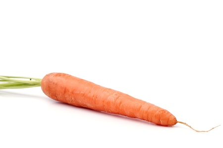 Fresh carrots on a white background Stock Photo - 13545055