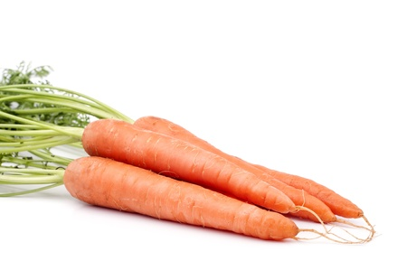 Fresh carrots on a white background Stock Photo - 13545056