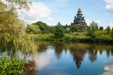 Wooden Russian church in Gifhorn  photo