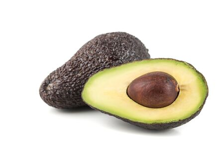 fresh,ripe  avocado on a white background