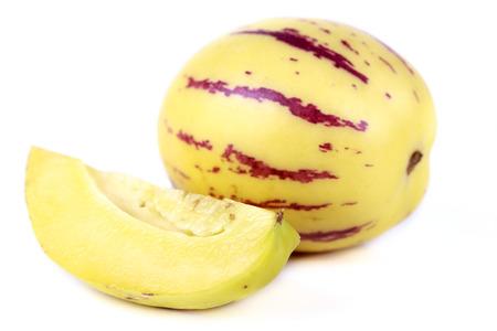 pepino: fresh fruit pepino melon on white background
