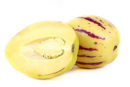 pepino: fresh fruit pepino melons on white background