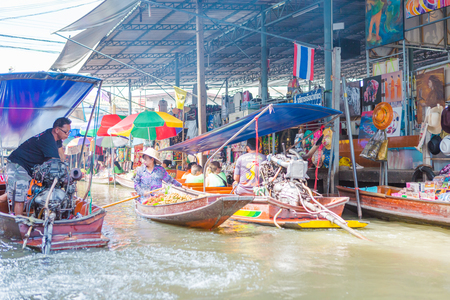 thailand damnoen saduak floating market Editorial