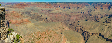 Panorama of grand canyon on sunny day