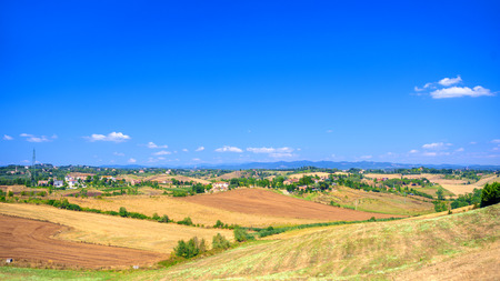 Panoramic view of a spring day in the Italian rural landscape Reklamní fotografie