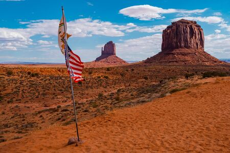 Landscape of Monument valley. Navajo tribal park, USA.