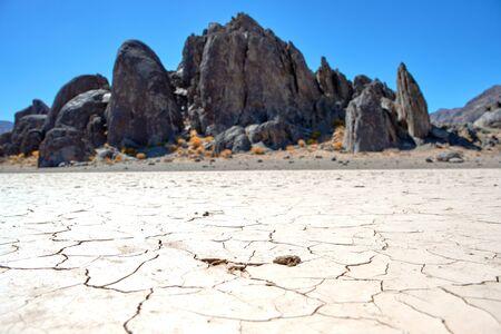 Racetrack valley in the Death Valley National Park 版權商用圖片