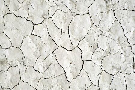Cracked dry lifeless earth