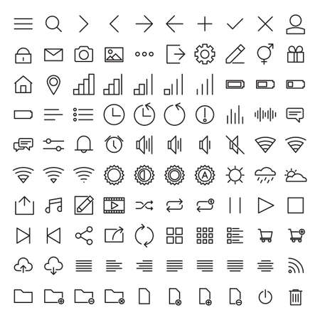 user: Set Of User Interface Icons