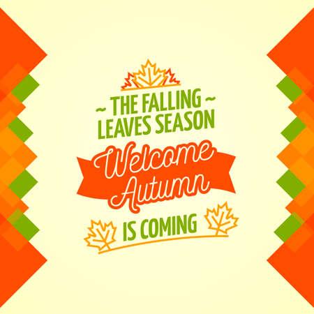 bienvenida: Bienvenido Otoño Cartel