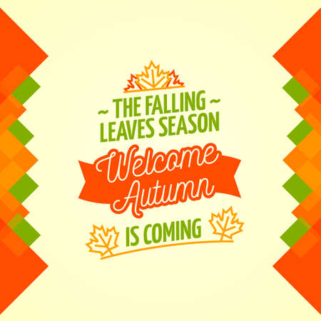welcome: Welcome Autumn Poster Illustration
