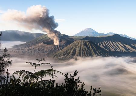 Beautiful Active Volcano Mount Bromo - Java, Indonesia Stock Photo