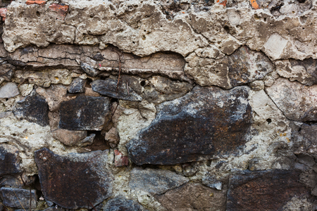 rock wall: texture of old rock wall