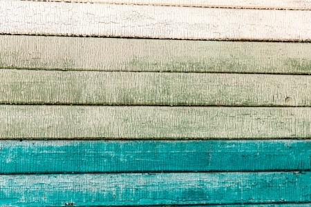 old painted colorfull horizontal wood plank background. Stock Photo