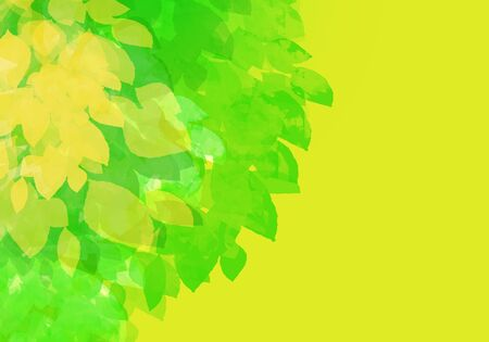 Abstract yellow green summer colorful watercolor background. Digital art painting. Spring season texture Banque d'images - 130728274