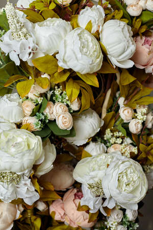 Artificial flower background close up valentine, wedding, romantic, marriage day