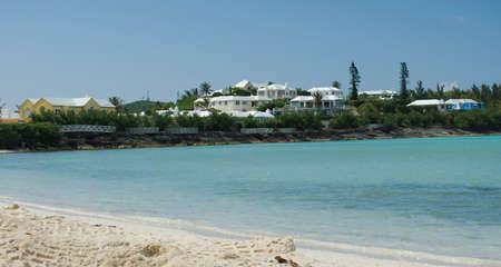 Bermuda Houses on the coastline.