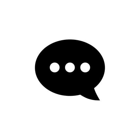 Chat icon vector. Chat Icon in trendy flat style. Speech bubble symbol Foto de archivo - 123157978