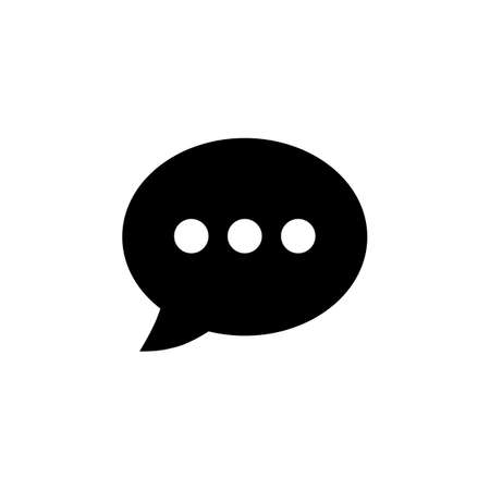Chat icon vector. Chat Icon in trendy flat style. Speech bubble symbol