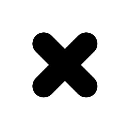 Close vector icon. Delete icon. remove, cancel, exit symbol Illustration