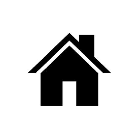 Home icon vector. House vector icon