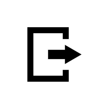 The exit icon. Logout and output,