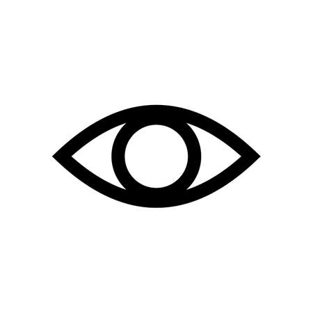 Eye icon vector. Look and Vision icon. Eye vector icon Foto de archivo - 123158241