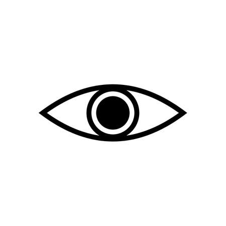 Eye icon vector. Look and Vision icon. Eye vector icon