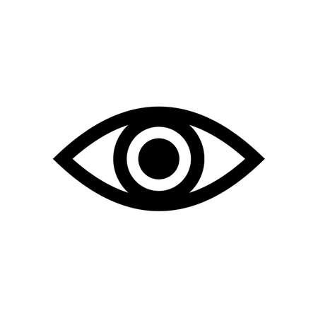 Vector de icono de ojo. Icono de mirada y visión. Icono de vector de ojo