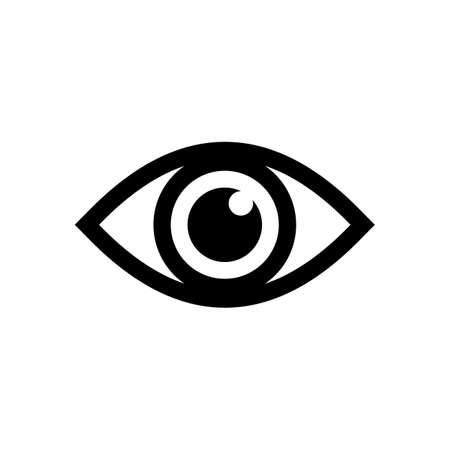 Vecteur d'icône d'oeil. Icône de regard et de vision. Icône de vecteur d'oeil
