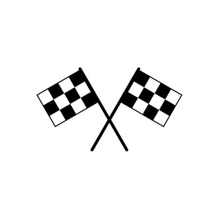 Start icon vector. Race flag icon. Competition sport flag line vector icon. Racing flag. Start finish flag
